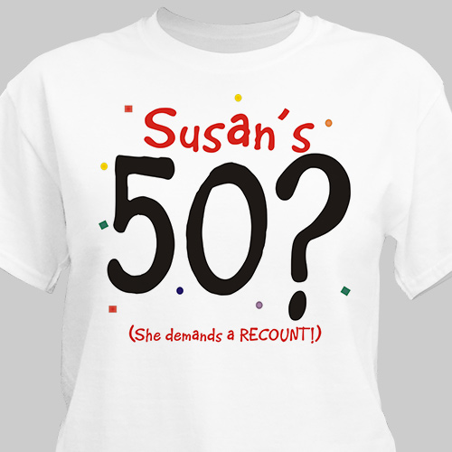 Demands A Recount T-Shirt | Personalized T-shirts
