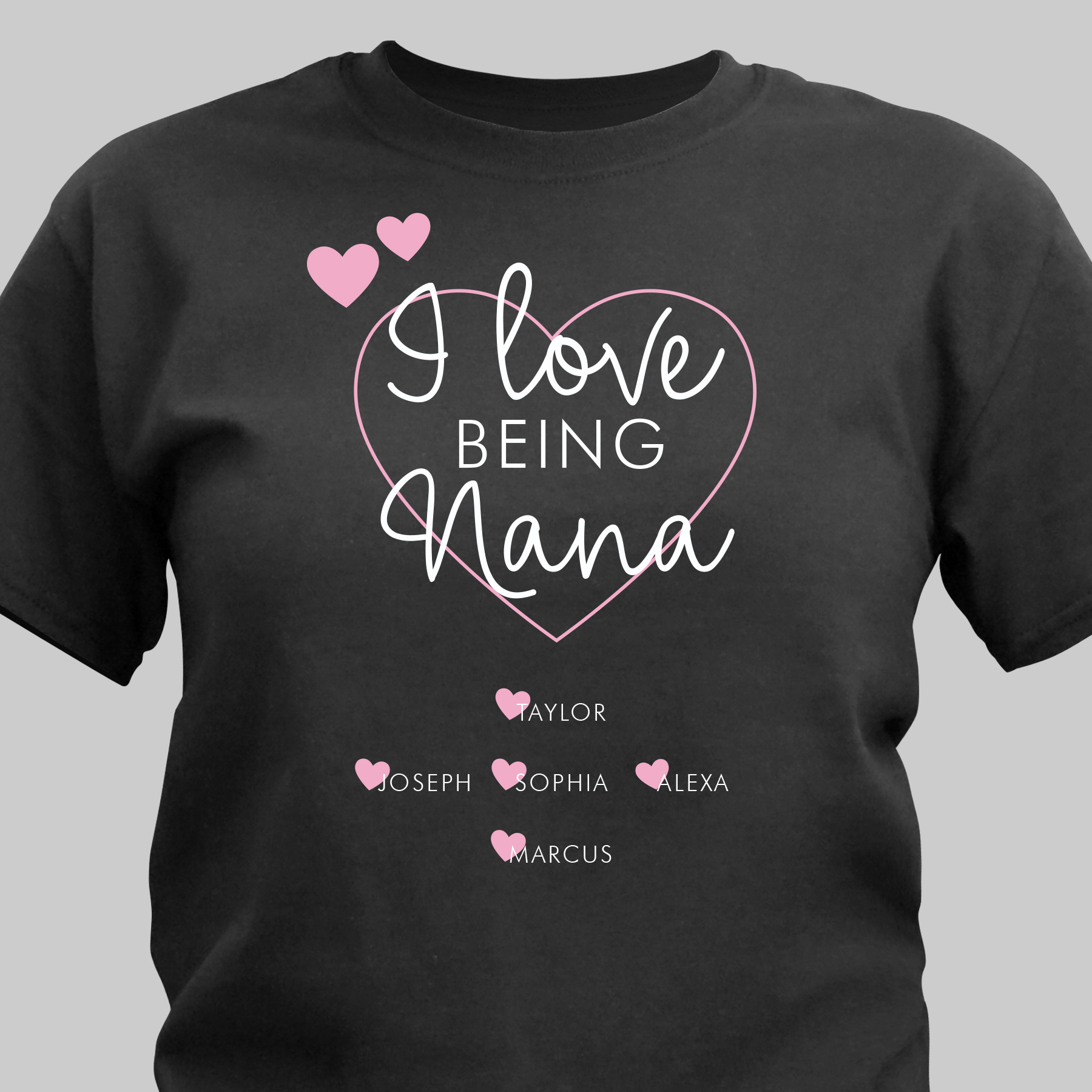 Personalized I Love Being Nana T-Shirt | Personalized Grandma TShirts