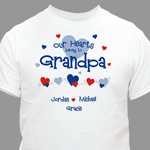 Our Hearts Belong to Grandpa T-shirt | Personalized T-shirts