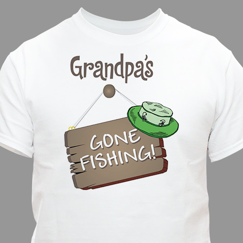 Gone Fishing T-Shirt | Grandpa Shirts
