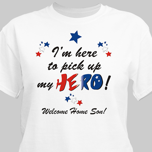 Welcome home My Hero Personalized Military T-shirt | Personalized T-shirts