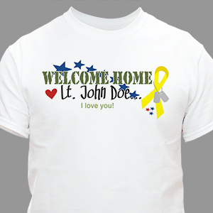 Welcome Home Personalized Military T-shirt | Personalized T-shirts