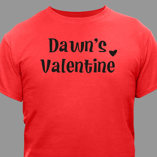 Personalized Valentine Adult T-shirt