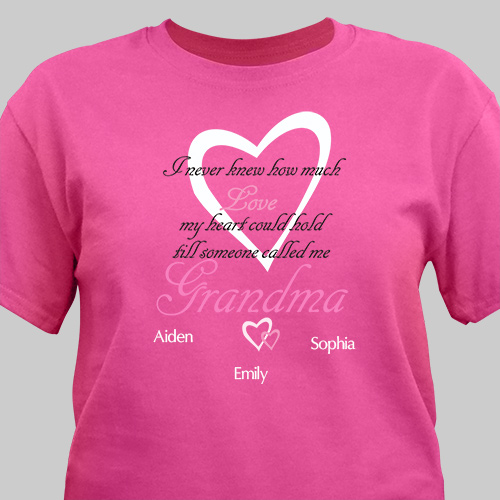 How Much Love Personalized T-shirt | Personalized Grandma Shirts