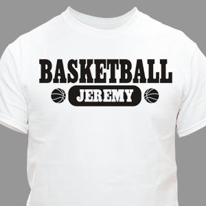 Basketball Personalized Sports T-Shirt | Personalized T-shirts