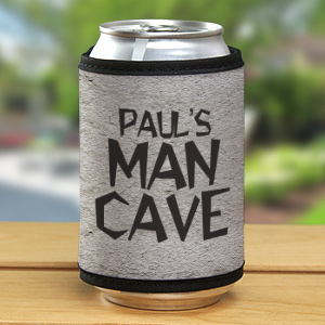 Personalized Man Cave Can Wrap Koozie 325839