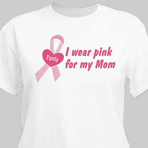 Custom Printed Breast Cancer Awareness T-shirt | Personalized T-shirts
