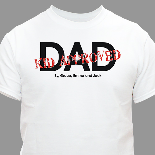 Personalized Kid Approved Dad T-shirt | Dad Shirts