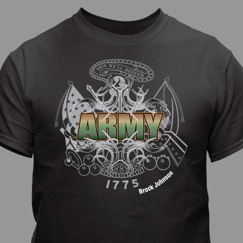 Personalized Army T-Shirt