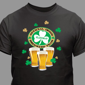 Irish Drinking Team Personalized T-shirt | Personalized T-shirts
