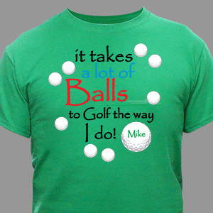 Personalized Golf T-shirt | Personalized T-shirts
