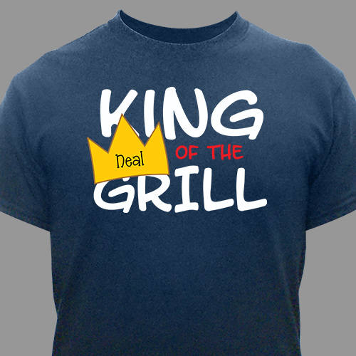 Personalized King Of The Grill T-Shirt 33394X