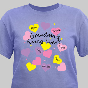 Personalized Loving Hearts T-Shirt 3894X