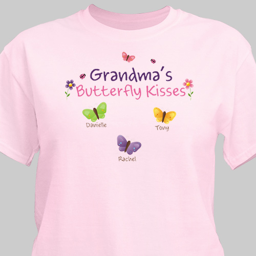 Personalized Butterfly Kisses T-shirt | Personalized Grandma Shirts