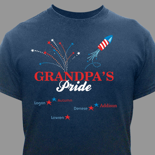Red, White and Blue Pride Personalized T-Shirt 33559x