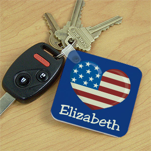 Stars and Strips Personalized Key Chain 335620