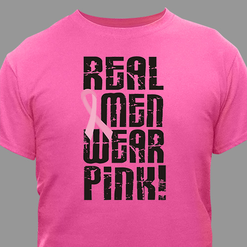 Real Men Wear Pink - Breast Cancer Awareness T-Shirt 33670x