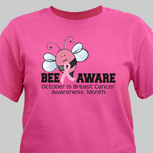 Bee Aware - Breast Cancer Awareness T-Shirt | Personalized T-shirts