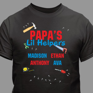 Personalized Lil' Helpers T-Shirt | Personalized Grandpa Gifts