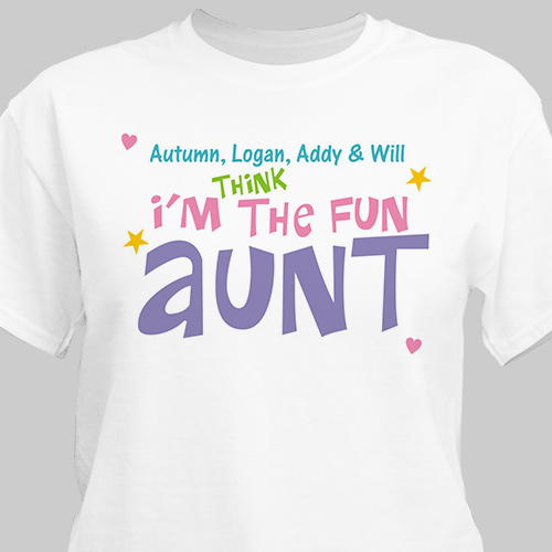 Personalized Fun Aunt T-Shirt | Personalized T-shirts