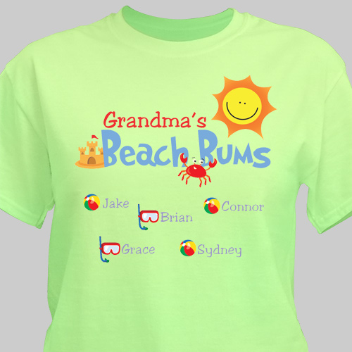 Personalized Beach Bums T-Shirt | Personalized Grandma Shirts