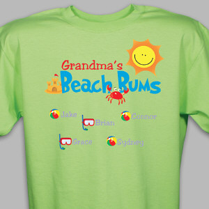 Personalized Beach Bums T-Shirt