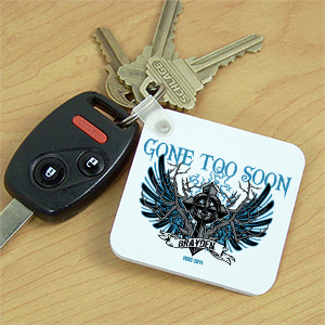 Personalized Gone Too Soon Memorial Key Chain 340290