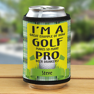Personalized Pro Beer Drinkers Golf Can Wrap Koozie 342529