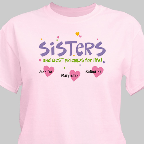 Personalized Sisters and Best Friends T-Shirt | Personalized T-shirts