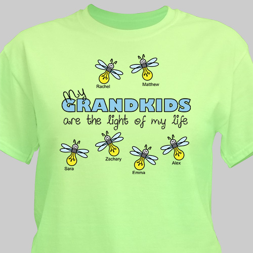 Personalized Light of My Life | Personalized Grandma Shirts