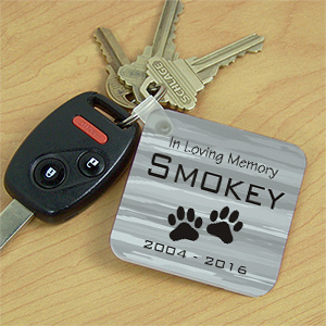 Personalized Pet Memorial Key Chain 355370