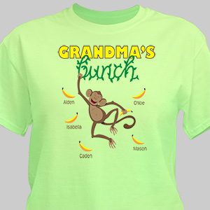 Personalized Monkey Bunch T-Shirt | Personalized Grandma Shirts