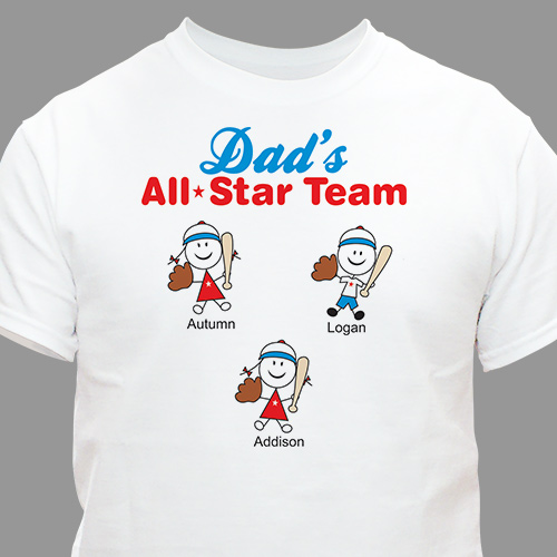 Dad's All Star Team Personalized T-Shirt 35905X