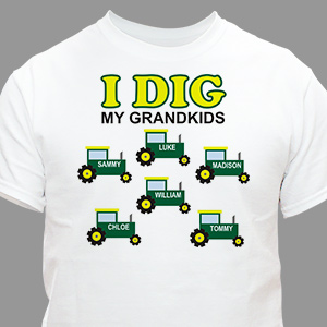 Personalized I Dig My Kids T-Shirt 35935X