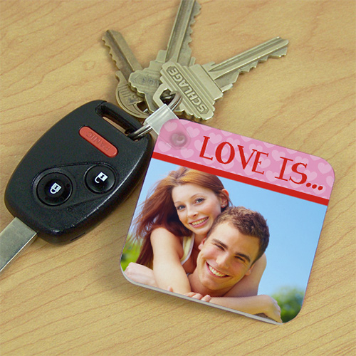 Love Is...Photo Key Chain | Personalized Couple Gifts