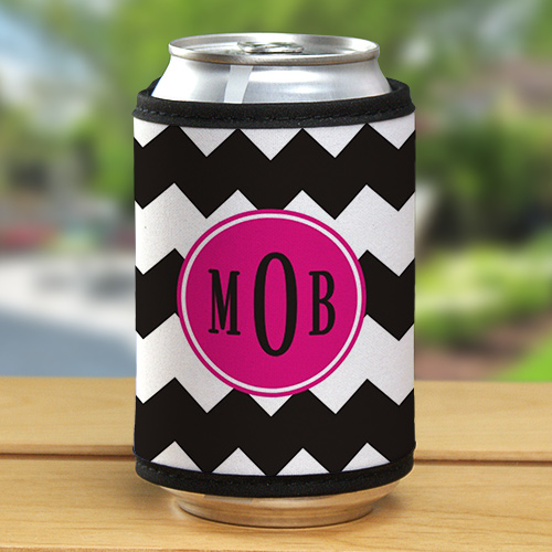 Monogram Madness Can Wrap Koozie | Personalized Wedding Favors