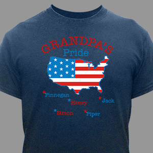 Personalized American Pride T-Shirt | Personalized T-shirts