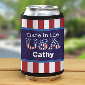 Personalized Made In The USA Can Wrap Koozie 367279