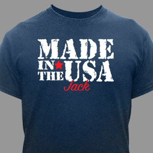 Personalized Made in the USA T-Shirt 36743X