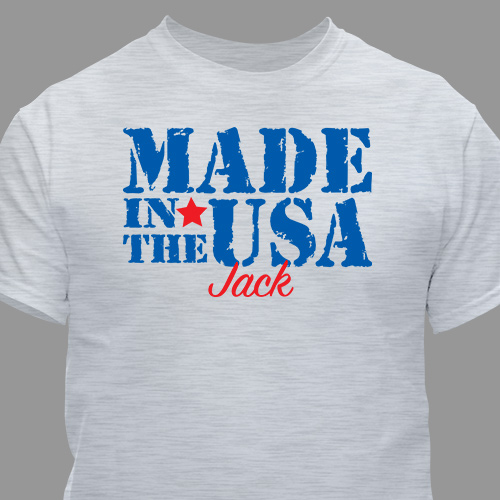 Personalized Made in the USA T-Shirt | Personalized T-shirts