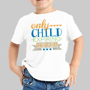 Personalized Only Child T-Shirt | Only Child Shirt