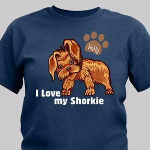 Personalized I Love My Shorkie T-Shirt | Personalized T-shirts