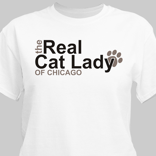 Personalized The Real Cat Lady T-Shirt | Personalized T-shirts