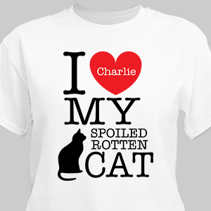 Personalized I Love My Spoiled Cat T-Shirt 37103X