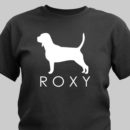 Personalized Dog Breed Silhouette T-Shirt | Personalized T-shirts