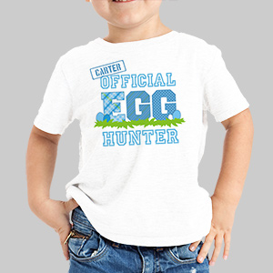 Personalized Official Egg Hunter T-Shirt|Personalized Easter Tee Shirts