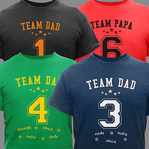 Personalized Team Dad T-Shirt