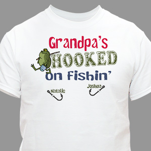 We're Hooked on Fishing T-Shirt | Personalized T-shirts