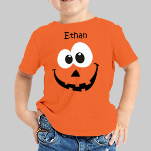 Personalized Pumpkin T-Shirt | Kids Halloween Shirts