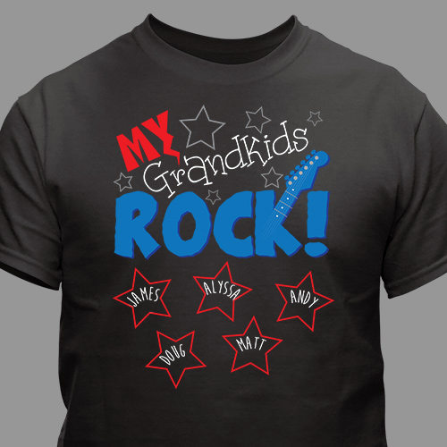 Personalized My Kids Rock T-Shirt | Personalized Gifts For Grandma